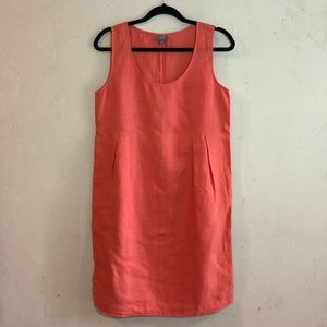 J. Jill sleeveless coral dress GUC size small.